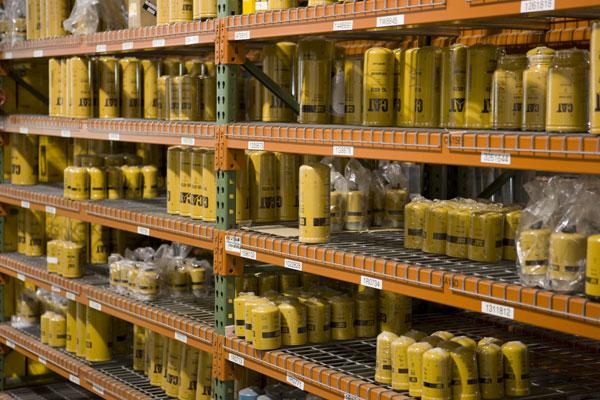 Cat Parts Warehouse Shelf