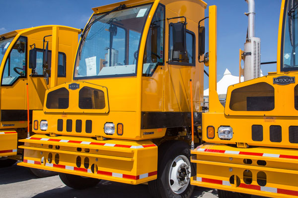 Yellow Spotter Trucks