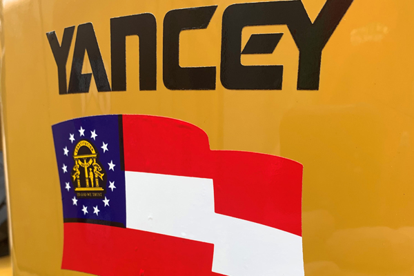 Yancey Logo with Georgia Flag