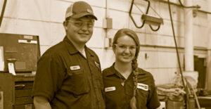 Man & Woman Yancey Technicians