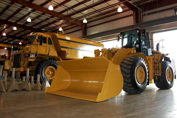 Cat Equipment In Yancey Service Shop