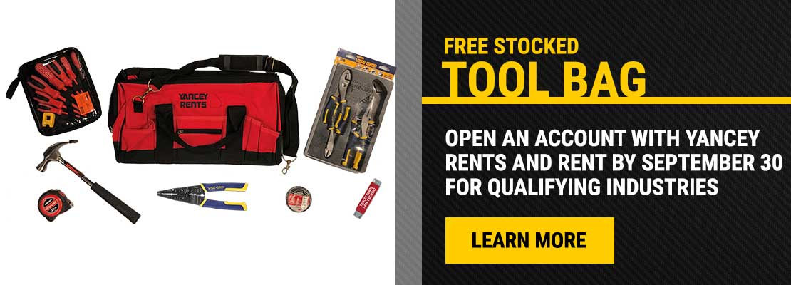 Free Stocked Tool Bag Promotion
