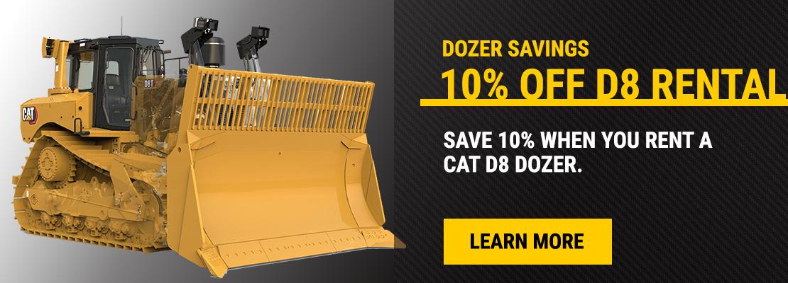 10% Cat D8 Dozer Rental Promotion