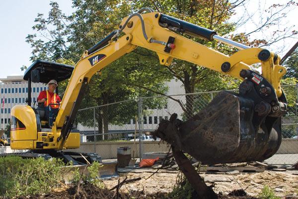 Cat Mini Excavator Landscaping