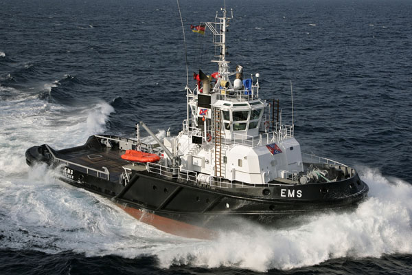 Tug Boat Moving on Water